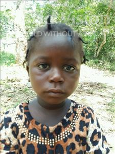 Choose a child to sponsor, like this little girl from Jaiama Bongor, Gina age 5