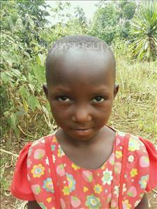 Choose a child to sponsor, like this little girl from Kibiga-Mulagi (Kimu), Irene age 7