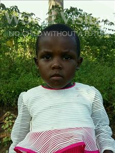 Choose a child to sponsor, like this little girl from Ntwetwe, Daphine age 3