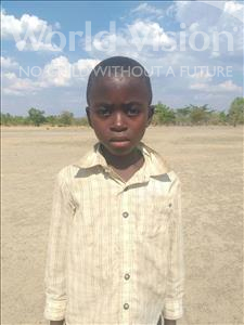Hakasenke, aged 7, from Zambia, is hoping for a World Vision sponsor