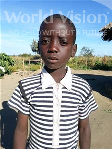 Choose a child to sponsor, like this little boy from Keembe, Given age 9