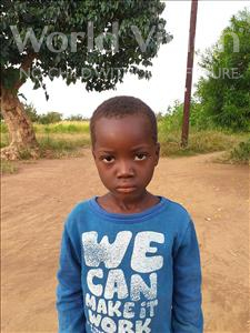 Choose a child to sponsor, like this little boy from Keembe, Kabinda age 5