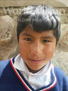 Choose a child to sponsor, like this little boy from Mosoj P'unchay, Cesar Brayan age 13