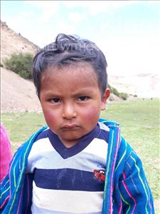 Choose a child to sponsor, like this little boy from Mosoj P'unchay, Luis Israel age 3
