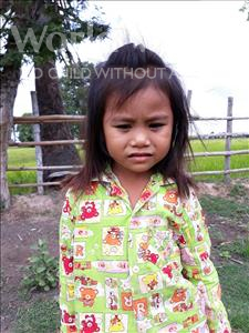 Srey Doeurn, aged 6, from Cambodia, is hoping for a World Vision sponsor