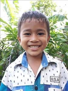 Ouksa, aged 6, from Cambodia, is hoping for a World Vision sponsor