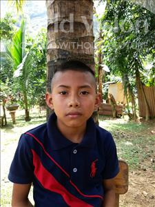 Erickson Ariel, aged 10, from Honduras, is hoping for a World Vision sponsor