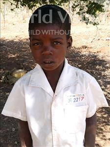 Choose a child to sponsor, like this little boy from Kazuzo, Domingos Agostinho age 7