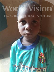 Choose a child to sponsor, like this little boy from Sirba, Issifi age 5