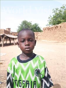 Choose a child to sponsor, like this little boy from Sirba, Mamoudou age 7