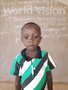 Adboulrahim, aged 5, from Niger, is hoping for a World Vision sponsor