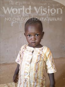 Choose a child to sponsor, like this little boy from Sirba, Soumaila age 3