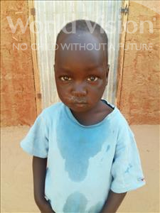 Choose a child to sponsor, like this little boy from Sirba, Hayyou age 5