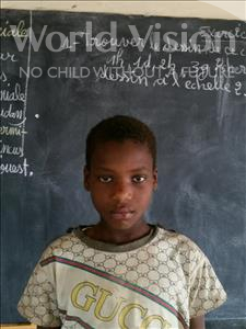 Choose a child to sponsor, like this little boy from Komabangou, Manssourou age 12