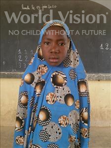 Choose a child to sponsor, like this little girl from Komabangou, Oumou age 10