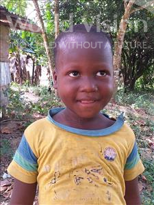 Choose a child to sponsor, like this little boy from Jong, Amodu age 5