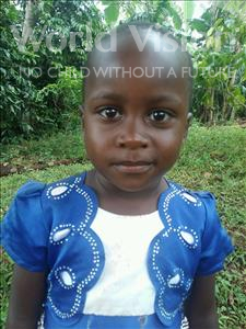 Choose a child to sponsor, like this little girl from Kibiga-Mulagi (Kimu), Caren age 4