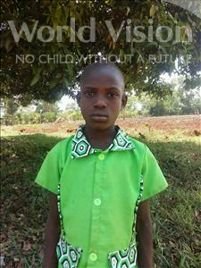 Choose a child to sponsor, like this little girl from Kibiga-Mulagi, Justina age 8
