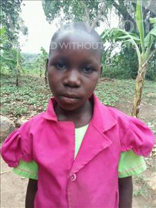 Choose a child to sponsor, like this little girl from Kibiga-Mulagi, Diana age 9