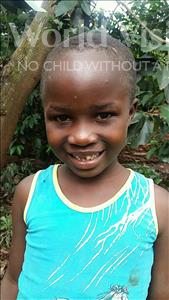 Choose a child to sponsor, like this little girl from Kibiga-Mulagi (Kimu), Brenda age 7