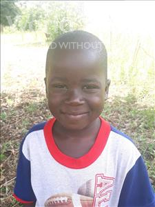 Simon, aged 5, from Uganda, is hoping for a World Vision sponsor