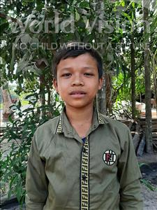 Choose a child to sponsor, like this little boy from Soutr Nikom, Ol age 10