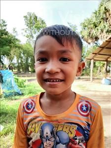 Choose a child to sponsor, like this little boy from Soutr Nikom, Vanneth age 6