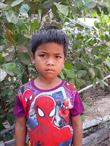 Choose a child to sponsor, like this little boy from Soutr Nikom, Seiha age 6