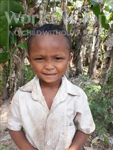 Choose a child to sponsor, like this little boy from Soutr Nikom, Pheakdey age 7