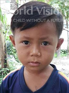 Choose a child to sponsor, like this little boy from Soutr Nikom, Lyna age 5