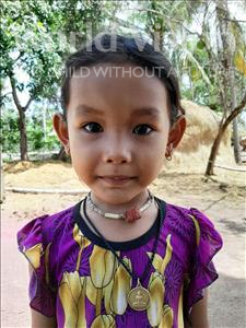 Choose a child to sponsor, like this little girl from Soutr Nikom, Ratana age 4