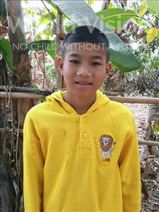 Choose a child to sponsor, like this little boy from Soutr Nikom, Voeurn age 11