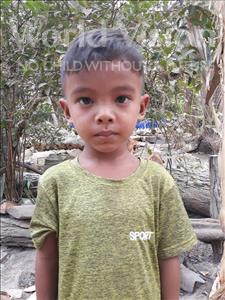 Choose a child to sponsor, like this little boy from Soutr Nikom, Chamran age 5