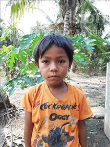 Choose a child to sponsor, like this little boy from Soutr Nikom, Reak Sa age 6