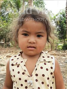 Choose a child to sponsor, like this little girl from Soutr Nikom, Rachana age 3