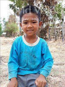 Choose a child to sponsor, like this little boy from Soutr Nikom, Samnang age 6