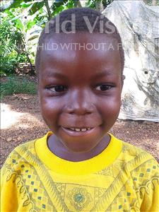 Choose a child to sponsor, like this little boy from Imperi, Alusine age 5