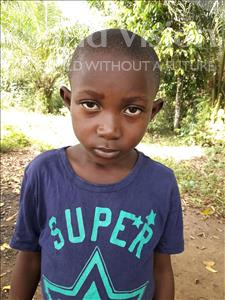 Alpha, aged 6, from Sierra Leone, is hoping for a World Vision sponsor