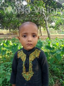 Mojahid, aged 4, from Bangladesh, is hoping for a World Vision sponsor