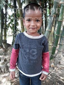 Choose a child to sponsor, like this little boy from Ghoraghat, Sadik age 4