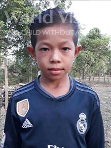Choose a child to sponsor, like this little boy from Soutr Nikom, Sireymun age 11