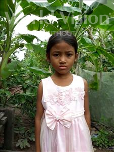 Choose a child to sponsor, like this little girl from Soutr Nikom, Dalin age 8