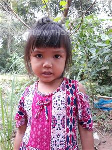 Choose a child to sponsor, like this little girl from Soutr Nikom, Kannika age 4