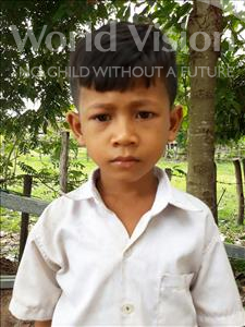 Choose a child to sponsor, like this little boy from Soutr Nikom, Borei age 8