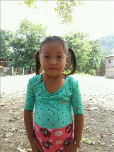 Maira Yaniris, aged 5, from Honduras, is hoping for a World Vision sponsor