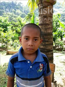 Emilson Enoc, aged 8, from Honduras, is hoping for a World Vision sponsor