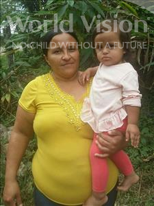 Glendi Yozari, aged 1, from Honduras, is hoping for a World Vision sponsor