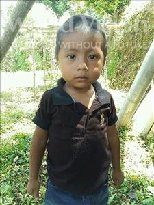 Choose a child to sponsor, like this little boy from Maya, Kevin Rolando age 3