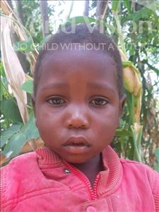 Choose a child to sponsor, like this little boy from Thundu, Clement age 4