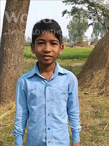Choose a child to sponsor, like this little boy from Sarlahi, Aaus age 8